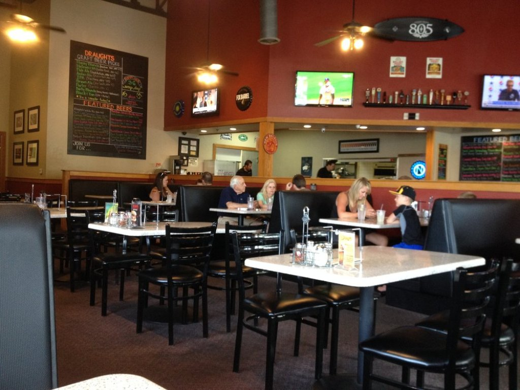 The interior of Draughts Restaurant & Bar in Thousand Oaks, California, one of many Southland food establishments owned and operated by Mihaylo College alumni.