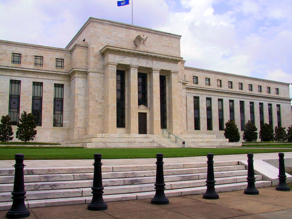 The exterior of the Federal Reserve headquarters in Washington, D.C., the nerve center of America's monetary policy.