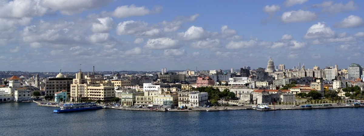 The skyline of Havana, the capital and largest city of Cuba.