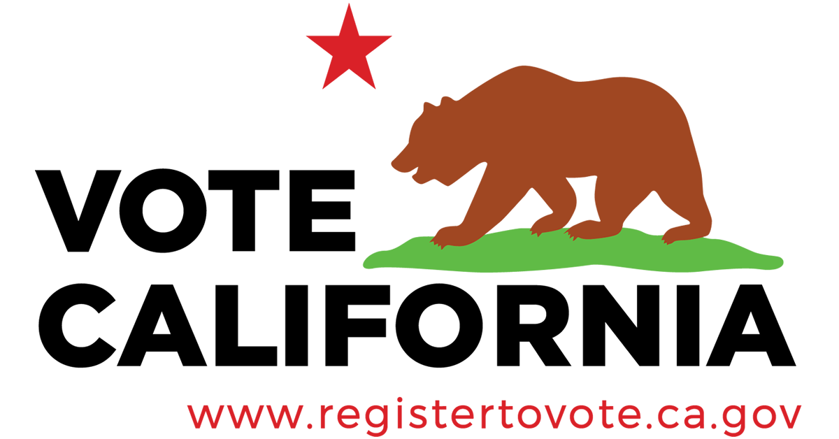 The official logo of the state of California voter registration system in 2016.