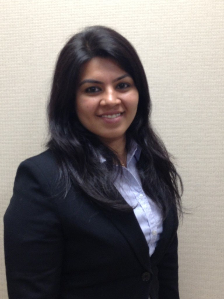 Mihaylo College finance grad Bhakti Pavani '11, a research analyst at Euro Pacific Capital.