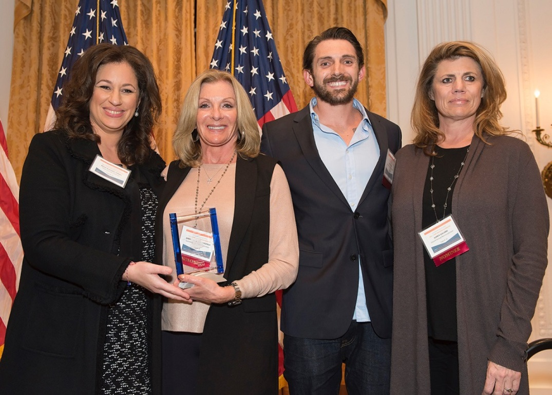 Members of the Galardi Family celebrate their induction into the Cal State Fullerton Mihaylo College Center for Family Business Hall of Fame.