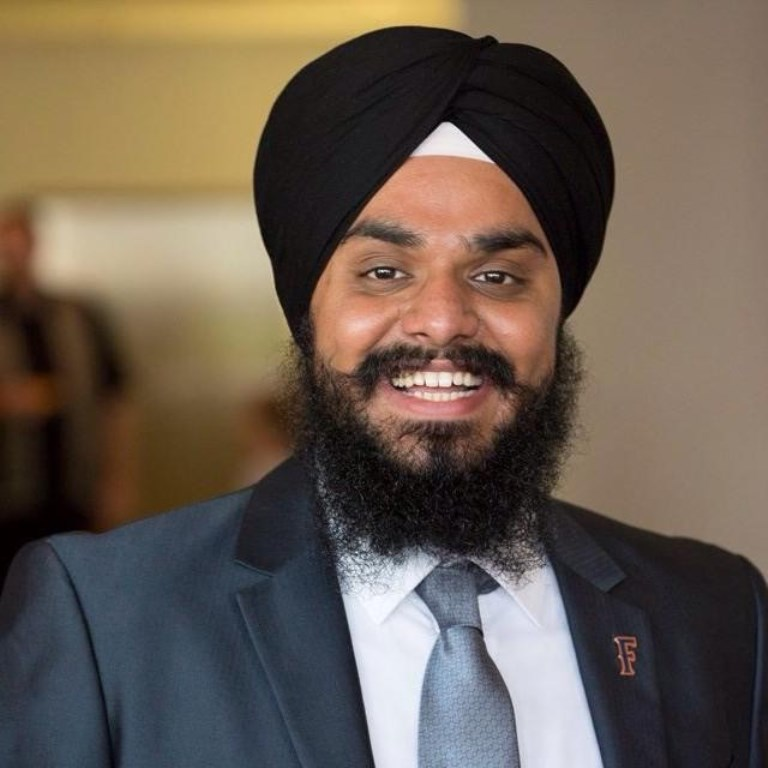 Harpreet Bath, the first Sikh to hold the presidency of a student government in the Cal State system.