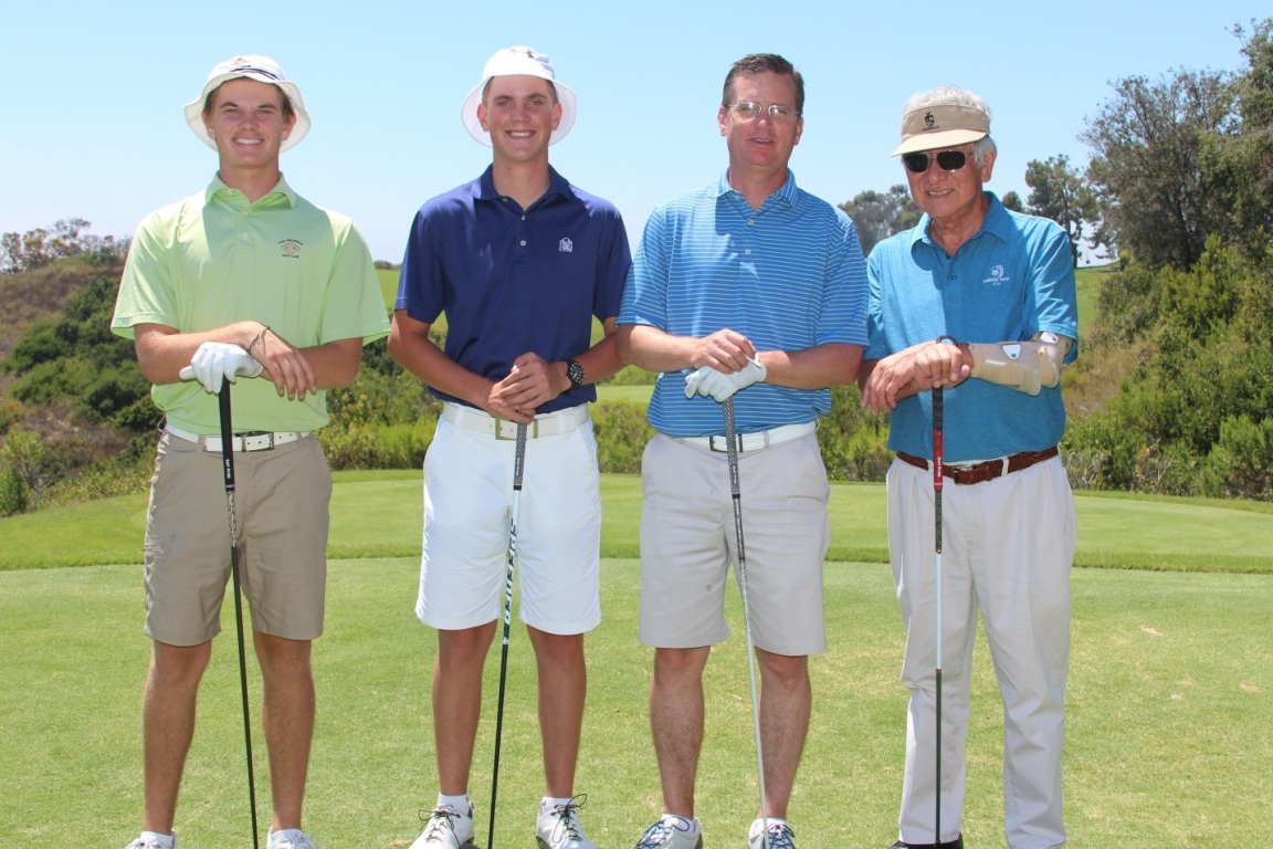 The winning Guy Yocom Construction foursome at the Mihaylo Golf Classic at Newport Beach's Pelican Hill Resort in June 2017.