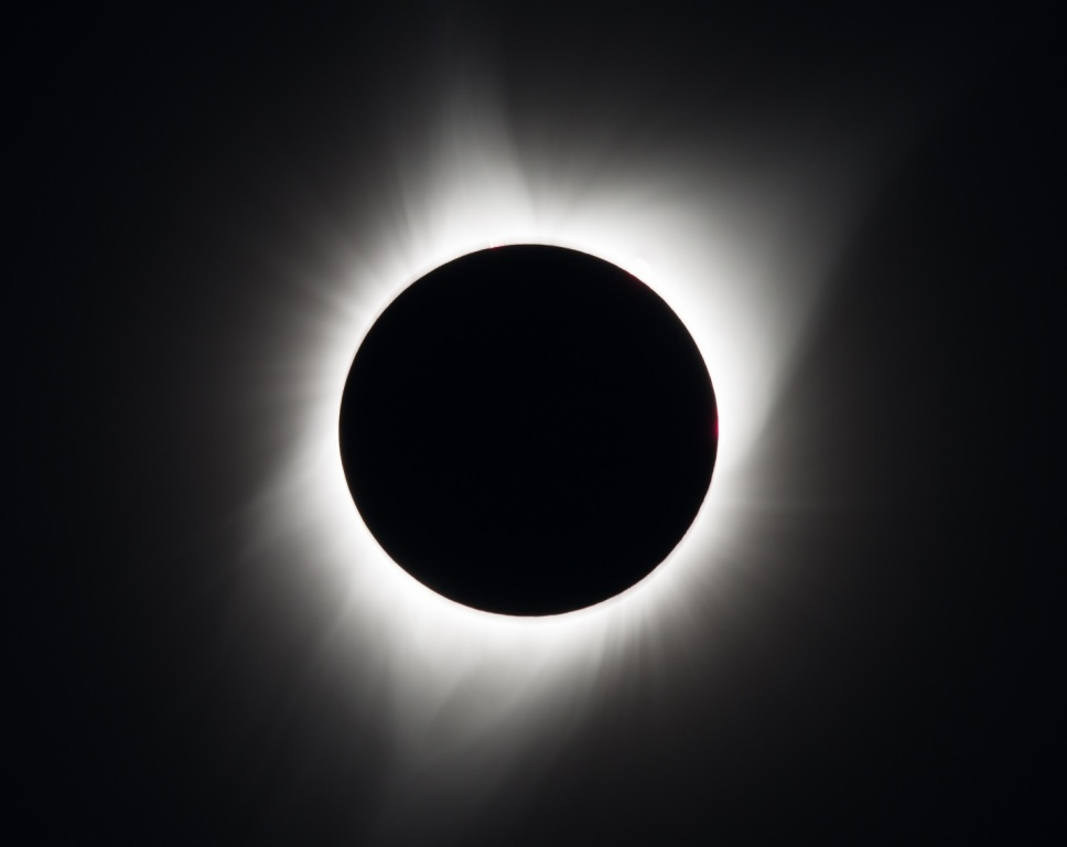 The Great American Solar Eclipse as visible from Madras, Oregon, where totality occurred.