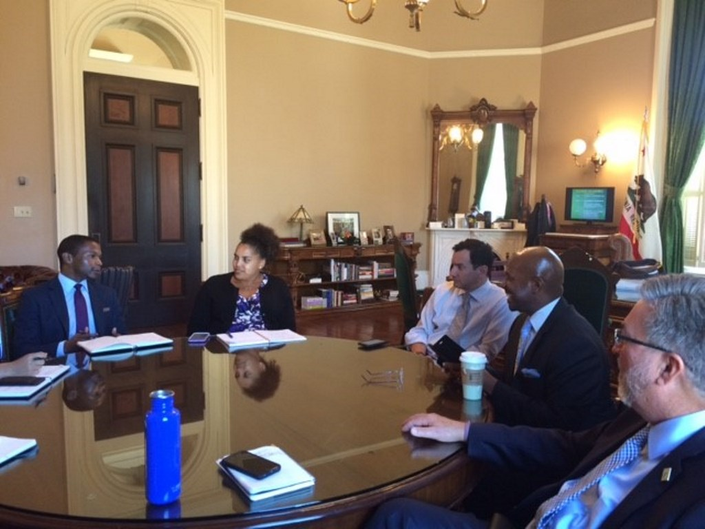 Jay Jefferson meets with California State Assembly leaders.