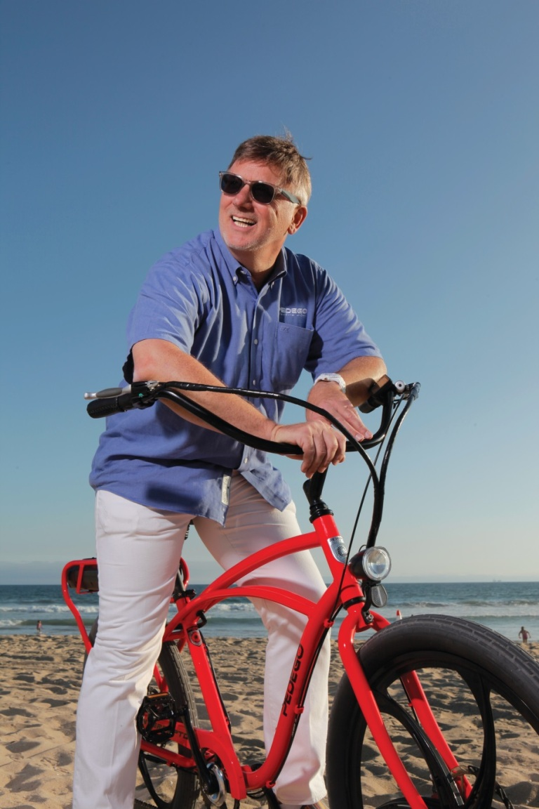 Mihaylo College marketing alumnus Don DiCostanzo, CEO of Orange County-based Pedego Electric Bikes.