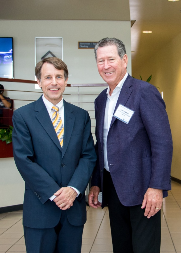 California Insurance Commissioner David Jones and Frank Robitaille, title sponsor of the 2017 Insurance Day at CSUF.