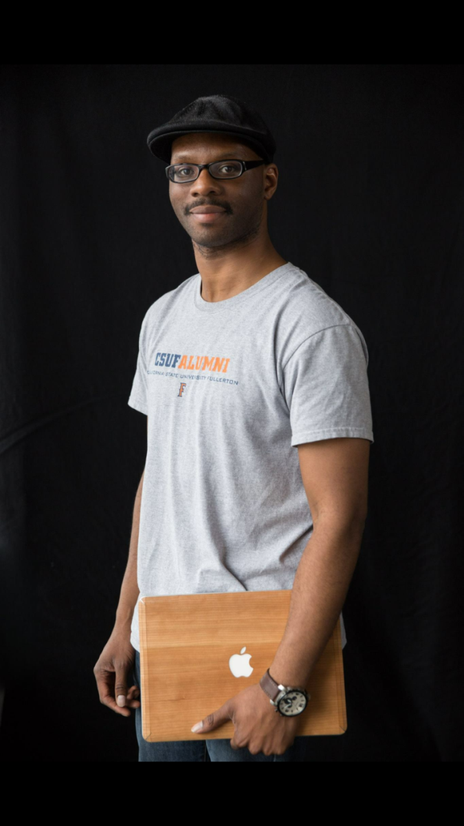 Aristote Matshoko '12, a Mihaylo College alumnus and founder of BONNI, an innovative one-for-one eco-friendly toothbrush model.