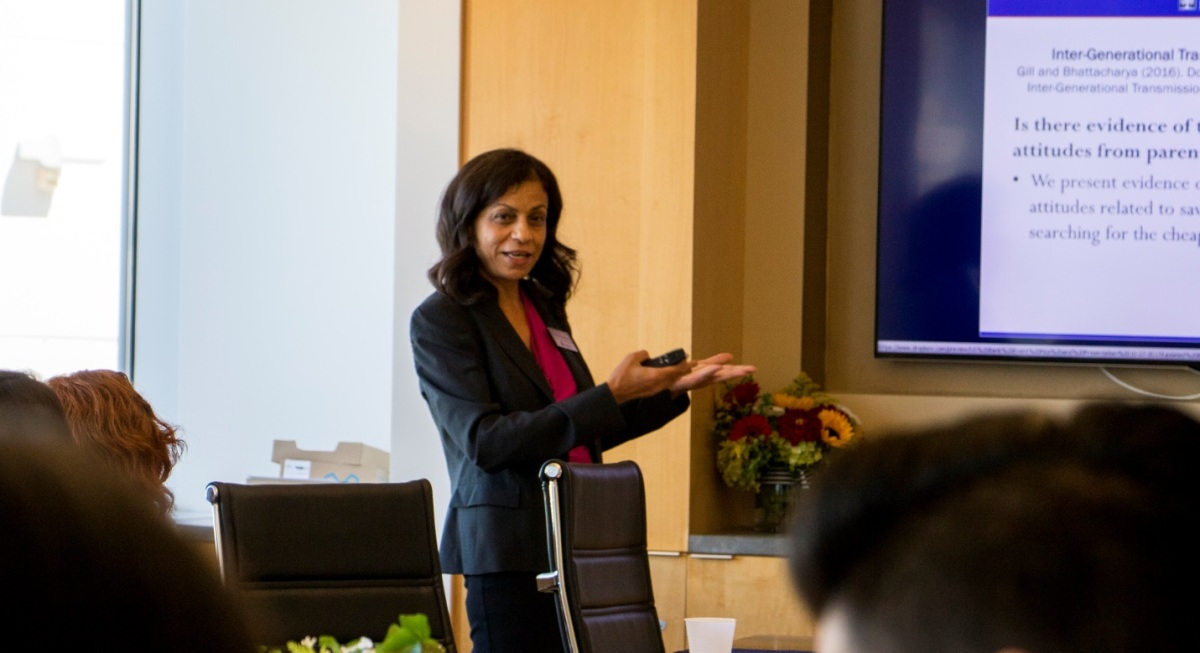 Radha Bhattacharya, director of the Mihaylo College Center for Economic Education, discusses the impact of the center on underprivileged Orange County youth.