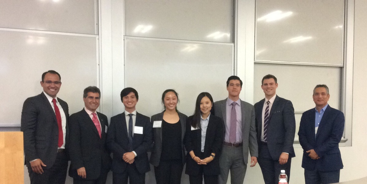 Student winners of the Bloomberg Portfolio Management Competition in 2017 at Cal State Fullerton's Mihaylo College of Business and Economics.