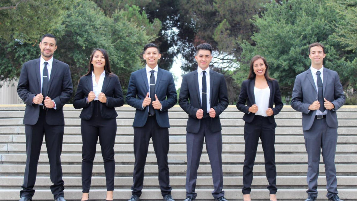 The leadership board of the Orange County Hispanic Youth Chamber of Commerce in 2017.