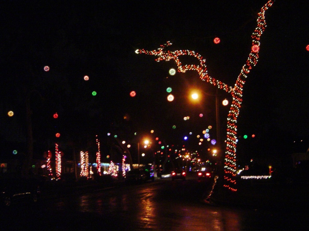 Fullerton's Yale Avenue is decorated with sparkleballs each holiday season.