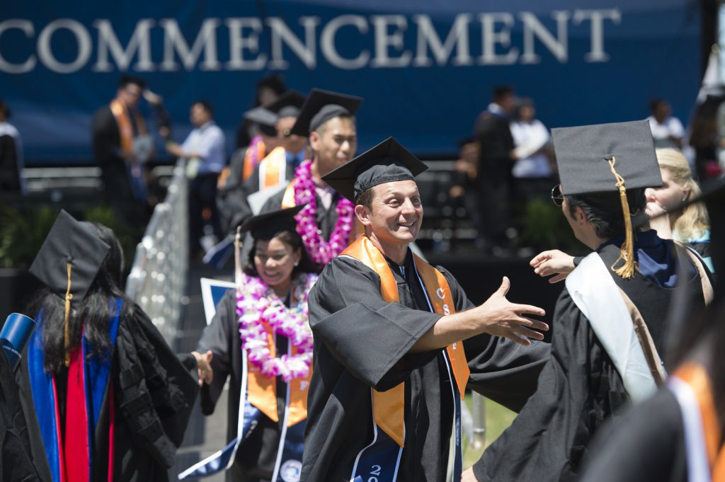 Mihaylo College graduates celebrate their commencement in May 2017.