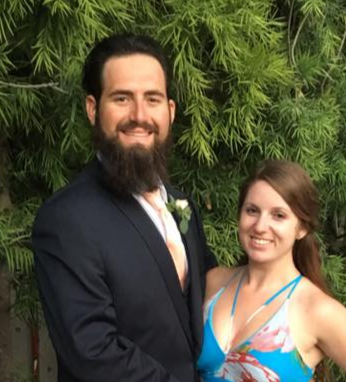 Mihaylo College alumnus and entrepreneur Kurtis Magargee (left) and his fiancee, Katlyn Thomas '14.