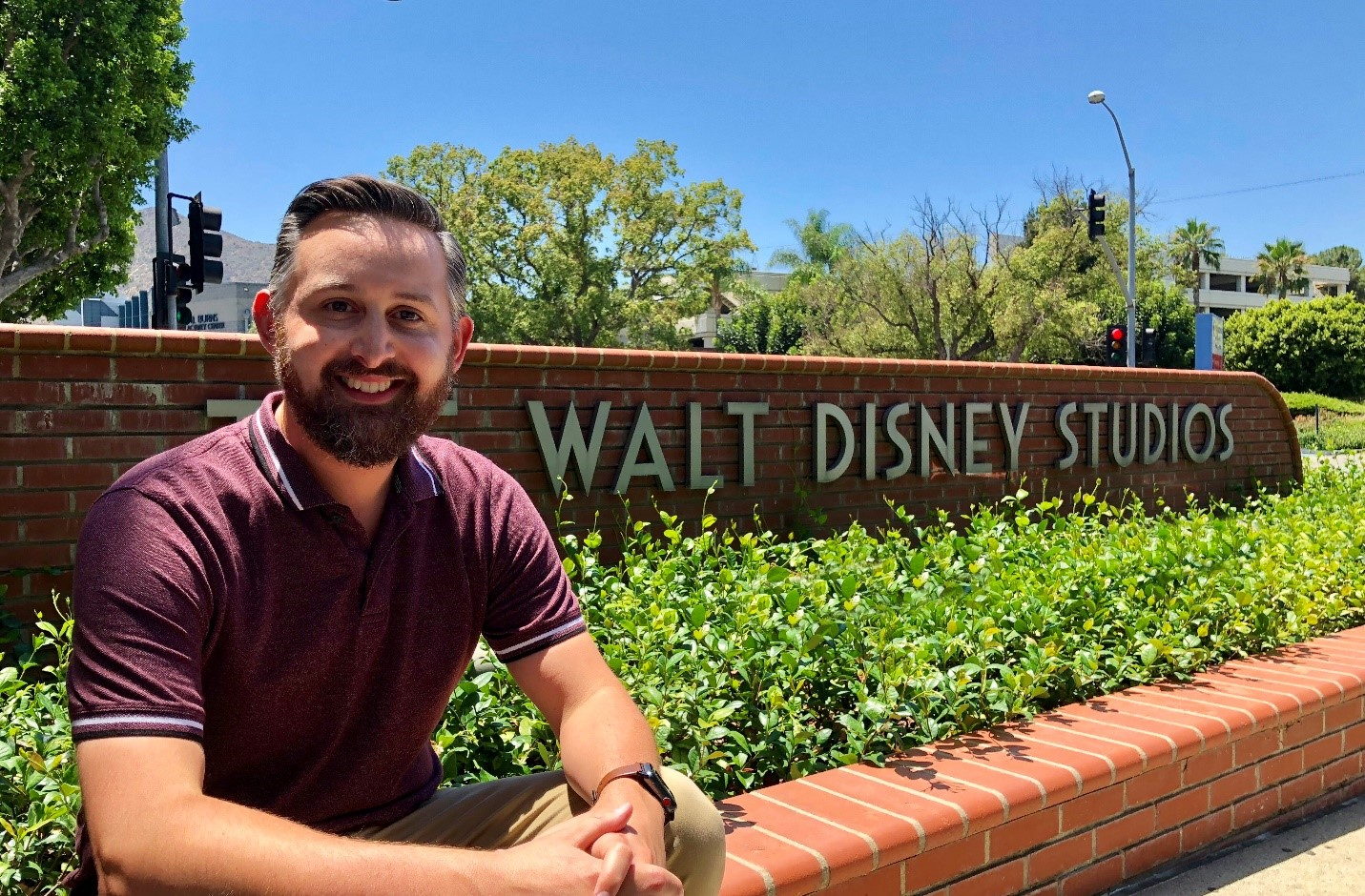 Justin Stirling, a CSUF Mihaylo College finance grad who has established himself in a finance career at The Walt Disney Company.