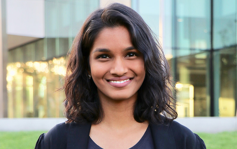 Cal State Fullerton student Lauren Sukumar encourages young people of all backgrounds to seek careers in computer science.