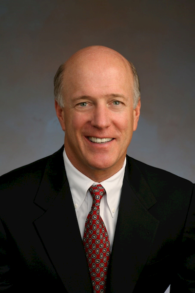 Pat Donahue '78, chairman and CEO of Donahue Schriber real estate and a Cal State Fullerton marketing alumnus.