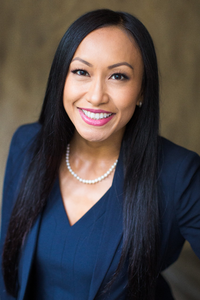 Sathya Chey '08, a Cal State Fullerton grad and advisor with Wells Fargo Advisors in Palos Verdes, California.