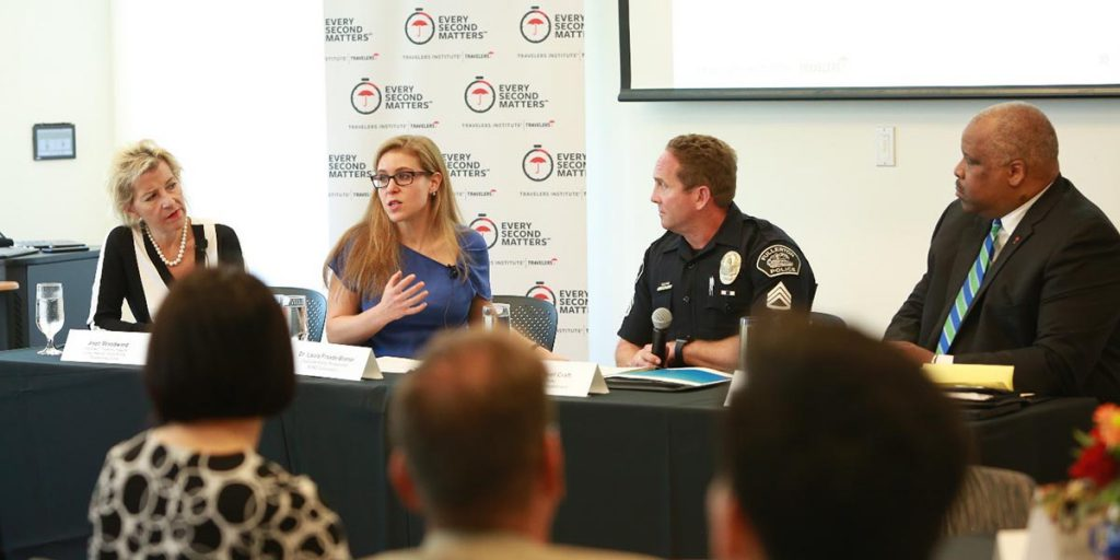 Panelists at the Harnessing Psychology, Tech and Innovation to Combat Distracted Driving event at Cal State Fullerton's Mihaylo College on Sept. 12, 2019.