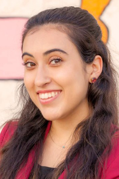 Sara Hashemzadeh '18, a Cal State Fullerton grad and event coordinator for North Hollywood-based Russell Harris Event Group.