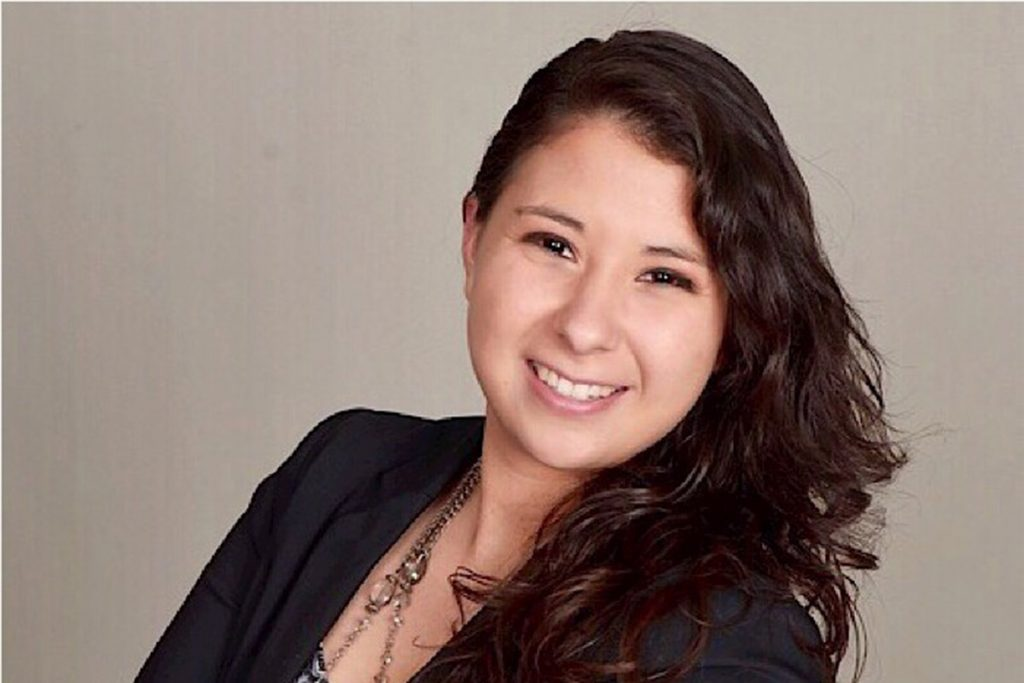 Jilene Melendez'19, a member of the Titan Women Collective and employee of the Hotel Irvine