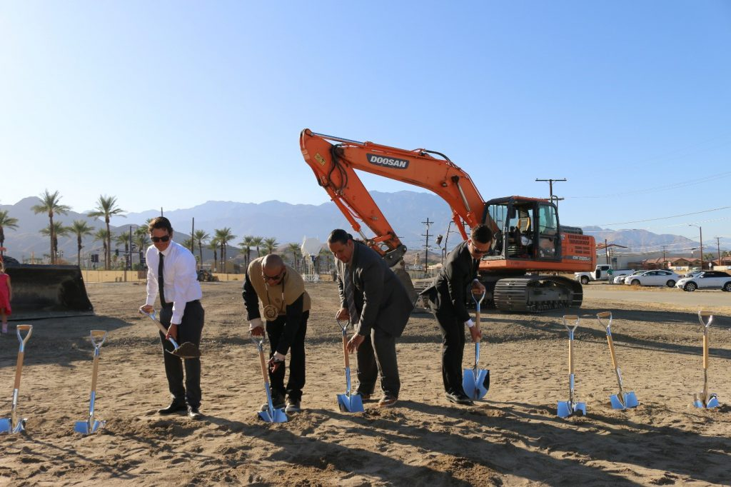 Tribal council members at the Agua Caliente band near Palm Springs break ground on the new Agua Caliente Casino in Cathedral City in November 2019.