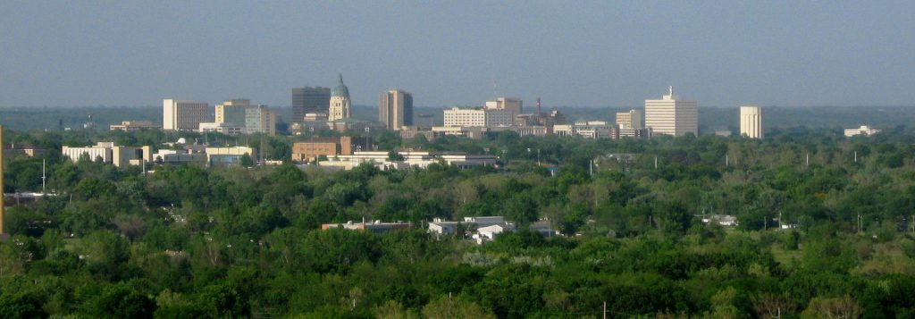 The skyline of Topeka, Kansas