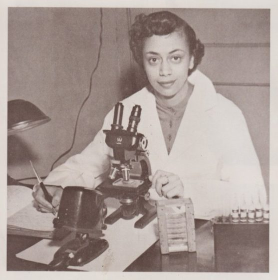 Jewel Plummer Cobb, Cal State Fullerton's third president, as a young biology student.