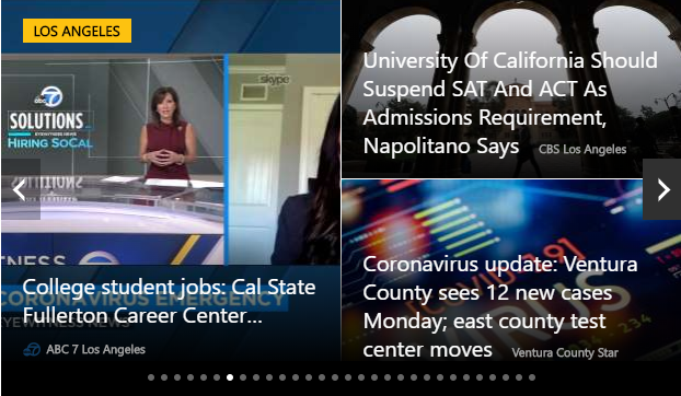 MSN screenshot on May 11, 2020, showing CSUF story