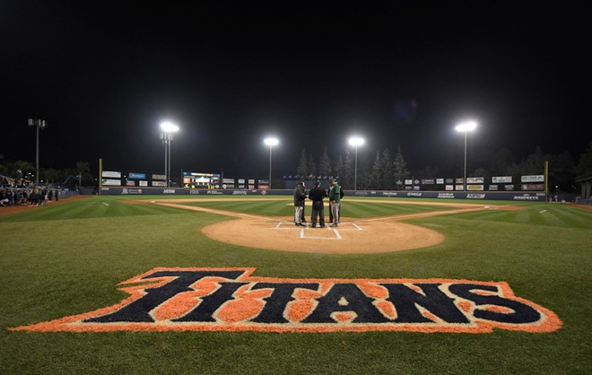 Goodwin Field at Cal State Fullerton during a baseball game