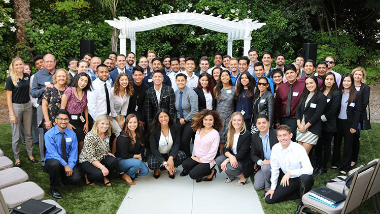 current student members of the CSUF sales leadership center