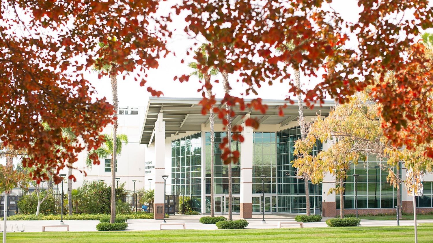 Autumn colors at the Titan Student Union at Cal State Fullerton